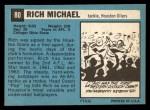 1964 Topps #80  Rich Michael  Back Thumbnail