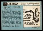 1964 Topps #157  Earl Faison  Back Thumbnail