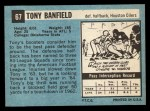 1964 Topps #67  Tony Banfield  Back Thumbnail