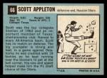1964 Topps #66  Scott Appleton  Back Thumbnail