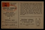 1954 Bowman #90  Chester Hanulak  Back Thumbnail