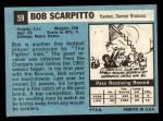 1964 Topps #59  Bob Scarpitto  Back Thumbnail