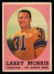 1958 Topps #50  Larry Morris  Front Thumbnail