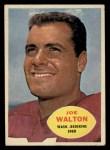1960 Topps #127  Joe Walton  Front Thumbnail