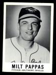 1960 Leaf #57  Milt Pappas  Front Thumbnail