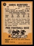 1967 Topps #72  Chris Buford  Back Thumbnail