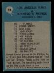 1964 Philadelphia #98   -  Harland Svare   Rams Play of the Year Back Thumbnail