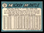 1965 Topps #350  Mickey Mantle  Back Thumbnail