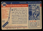 1954 Topps #38  Hal Laycoe  Back Thumbnail