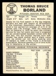 1960 Leaf #26  Tom Borland  Back Thumbnail