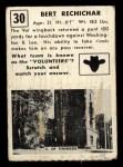 1951 Topps Magic #30  Bert Rechichar  Back Thumbnail