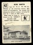 1951 Topps Magic #42  Bob Smith  Back Thumbnail