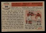 1956 Topps #28  Chuck Bednarik  Back Thumbnail