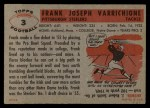 1956 Topps #3  Frank Varrichione  Back Thumbnail