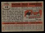 1956 Topps #13  Vic Janowicz  Back Thumbnail