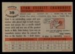 1956 Topps #39  Lynn Chandnois  Back Thumbnail