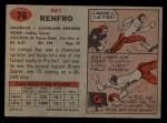 1957 Topps #76  Ray Renfro  Back Thumbnail