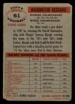 1956 Topps #61   Redskins Team Back Thumbnail