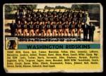 1956 Topps #61   Redskins Team Front Thumbnail