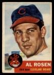 1953 Topps #135  Al Rosen  Front Thumbnail