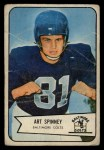 1954 Bowman #126  Art Spinney  Front Thumbnail