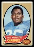 1970 Topps #206  Russ Washington  Front Thumbnail