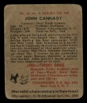 1948 Bowman #82  John Cannady  Back Thumbnail