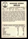 1960 Leaf #2  Woodie Held  Back Thumbnail