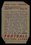 1951 Bowman #112  Paul Younger  Back Thumbnail