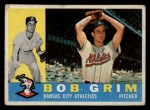 1960 Topps #78  Bob Grim  Front Thumbnail