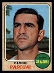 1968 Topps #395  Camilo Pascual  Front Thumbnail