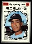 1970 Topps #452   -  Felix Millan All-Star Front Thumbnail