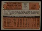 1972 Topps #481  Billy Conigliaro  Back Thumbnail