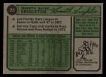 1974 Topps #25  Ken Singleton  Back Thumbnail