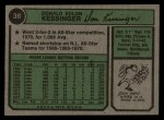 1974 Topps #38  Don Kessinger  Back Thumbnail