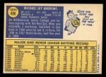 1970 Topps #406  Mike Andrews  Back Thumbnail