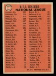 1966 Topps #219   -  Willie Mays / Frank Robinson / Deron Johnson NL RBI Leaders Back Thumbnail