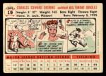 1956 Topps #19  Chuck Diering  Back Thumbnail