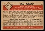 1953 Bowman Black and White #3  Bill Rigney  Back Thumbnail