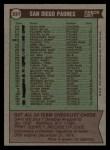 1976 Topps #331   -  John McNamara Padres Team Checklist Back Thumbnail