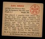 1950 Bowman #34  Gail Bruce  Back Thumbnail