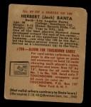 1948 Bowman #89  Herbert Banta  Back Thumbnail