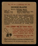 1948 Bowman #95  George McAfee  Back Thumbnail