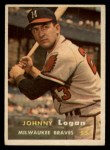 1957 Topps #4  Johnny Logan  Front Thumbnail