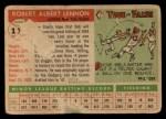 1955 Topps #119  Bob Lennon  Back Thumbnail