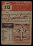 1953 Topps #213  Ray Scarborough  Back Thumbnail