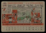 1956 Topps #116 GRY Eddie O'Brien  Back Thumbnail