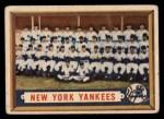 1957 Topps #97   Yankees Team Front Thumbnail