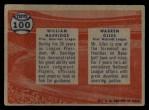 1957 Topps #100  Warren Giles / William Harridge  Back Thumbnail