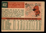 1959 Topps #432  Smoky Burgess  Back Thumbnail